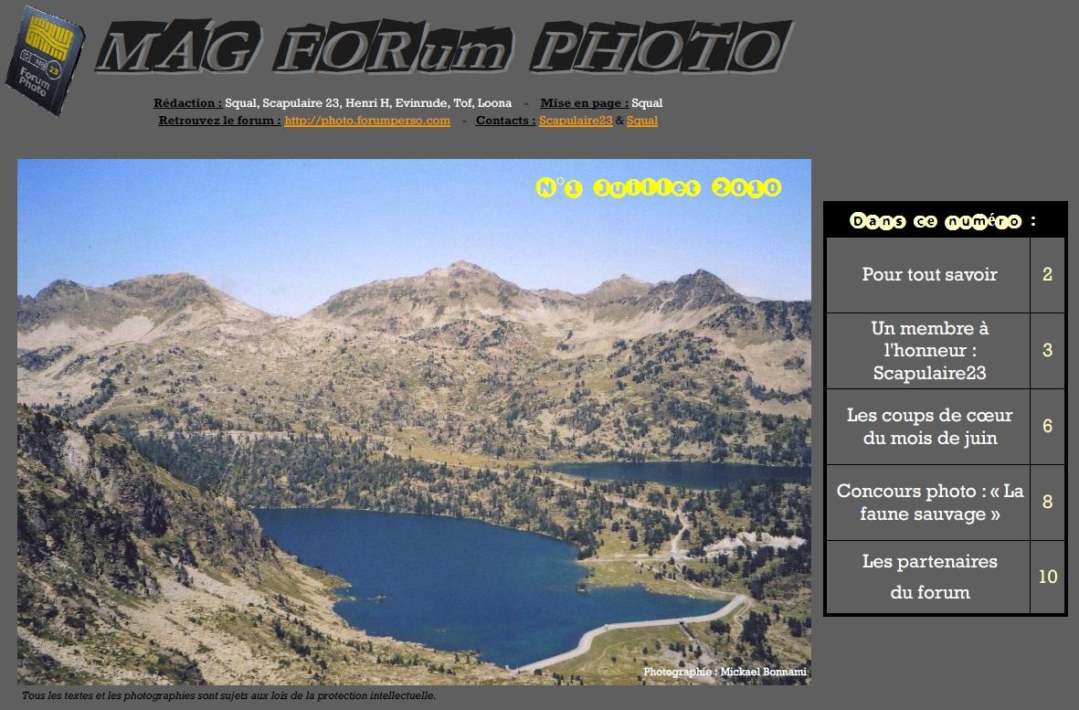 Magazine du forum N°1 Juillet 2010