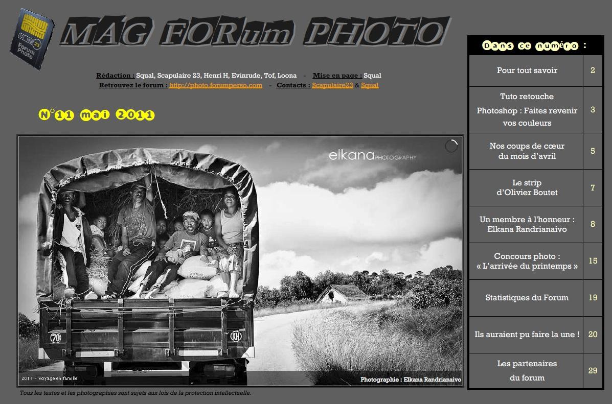 Magazine du forum N°11 Mai 2011