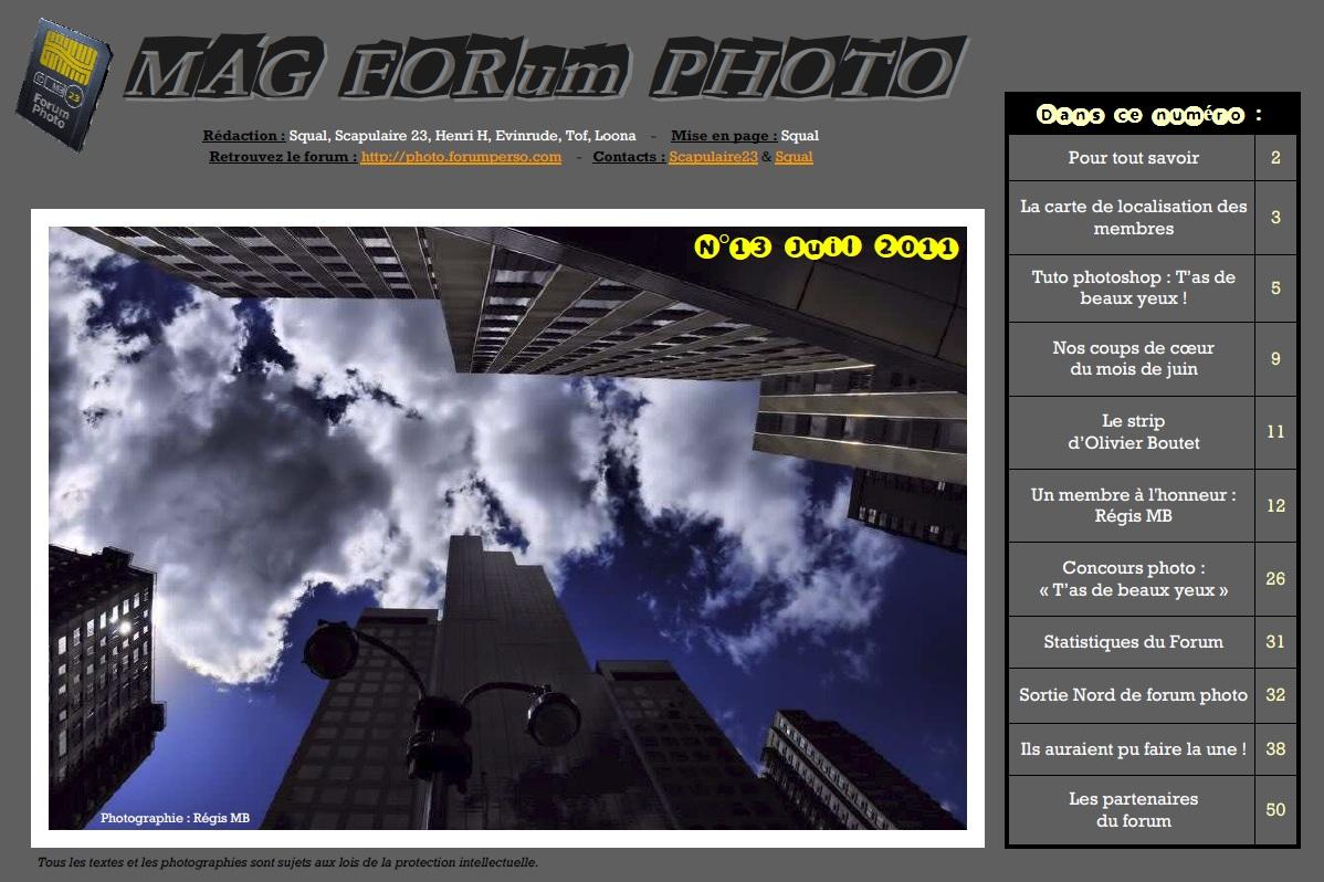 Magazine du forum N°13 Juillet 2011
