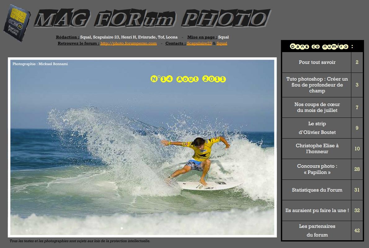 Magazine du forum N°14 Août 2011