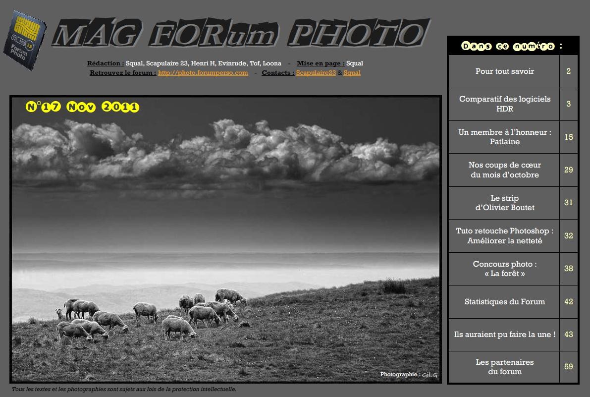Magazine du forum N°17 Novembre 2011