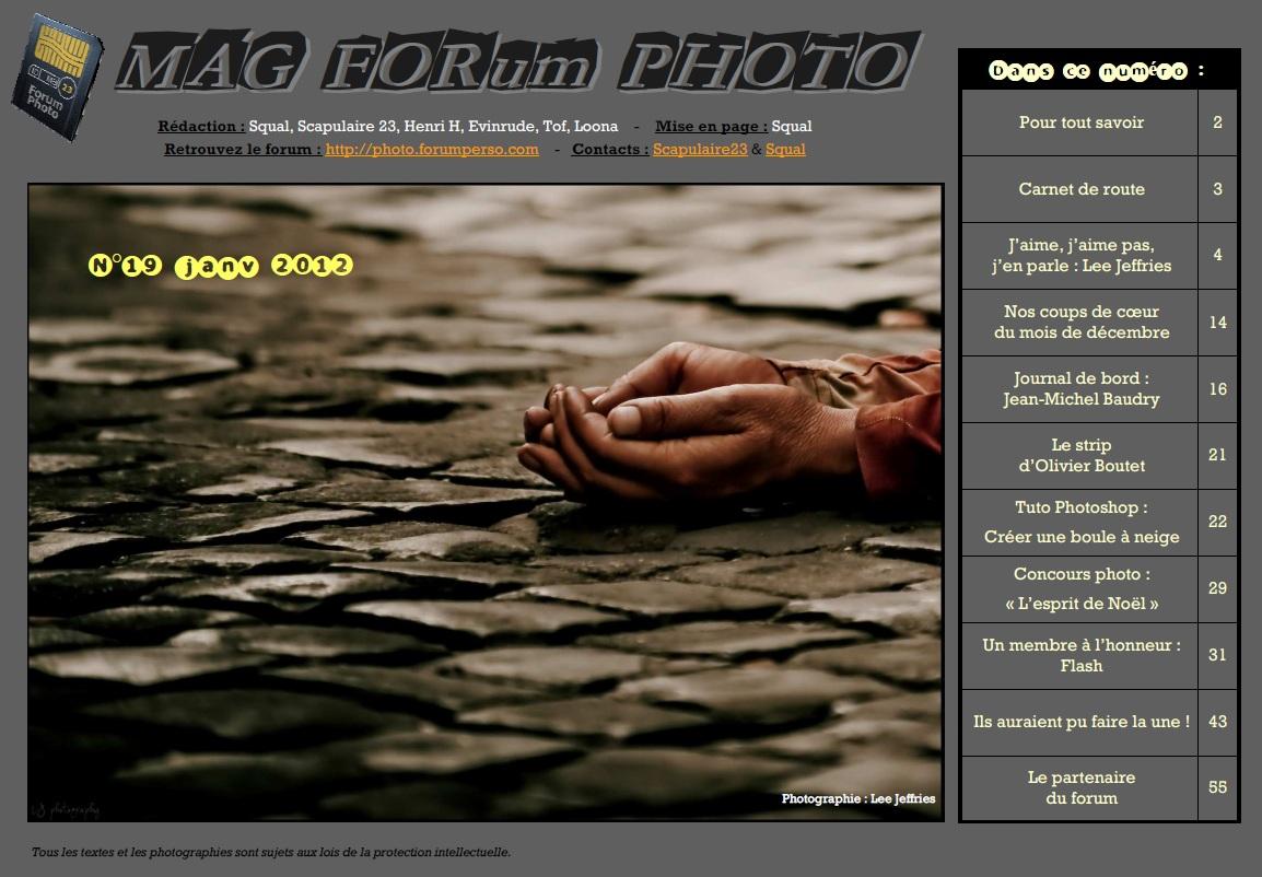 Magazine du forum N°19 Janvier 2012