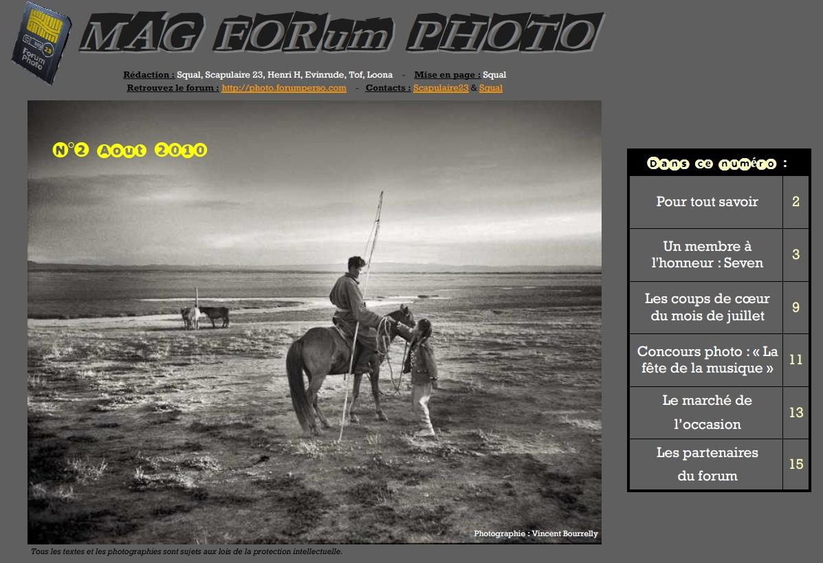 Magazine du forum N°2 Août 2010