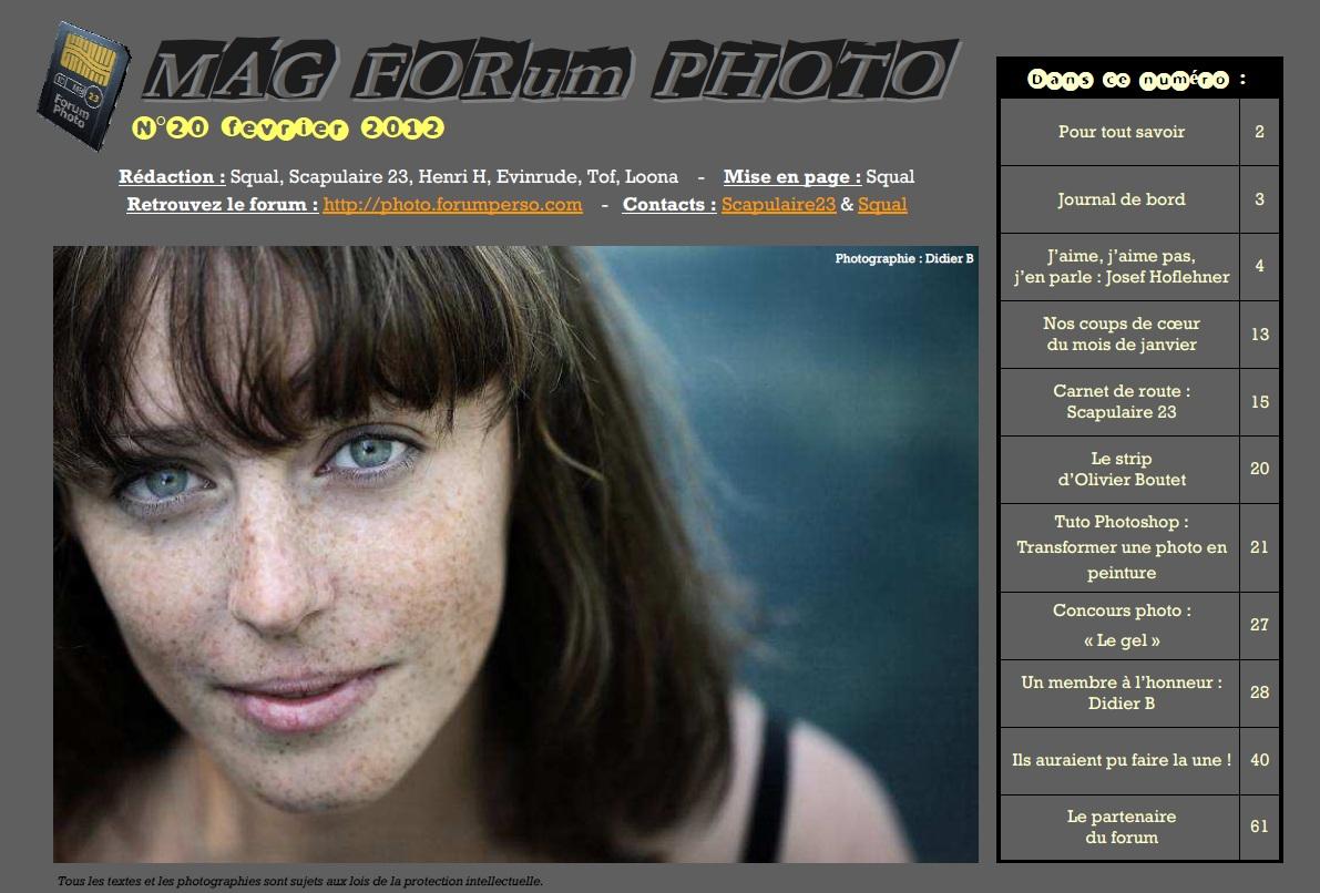 Magazine du forum N°20 Février 2012