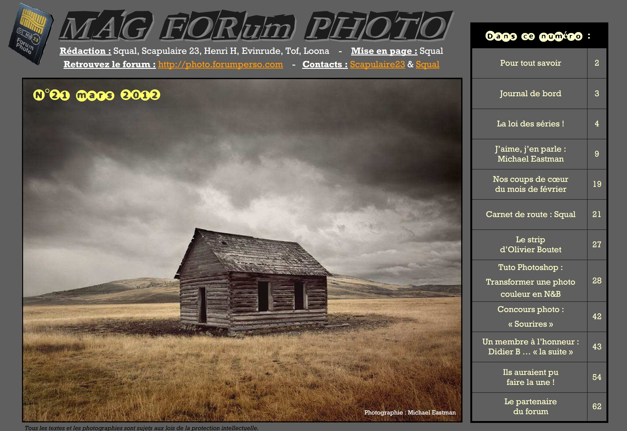 Magazine du forum N°21 Mars 2012