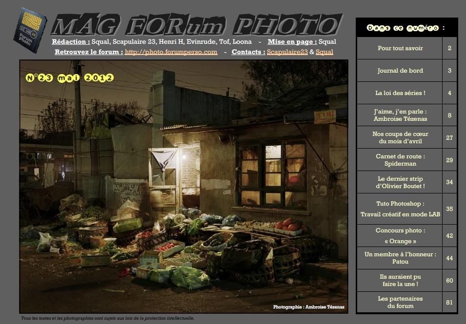 Magazine du forum N°23 Mai 2012