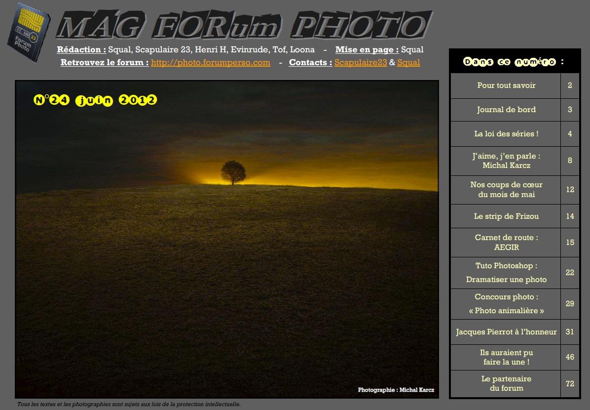 Magazine du forum N°24 Juin 2012