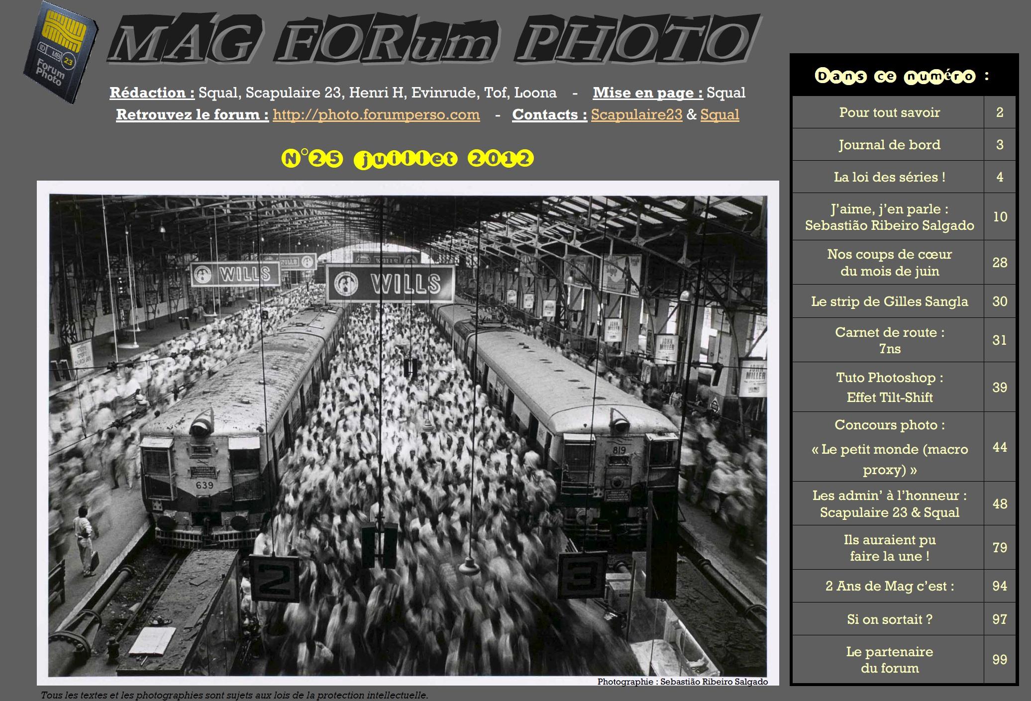 Magazine du forum N°25 Juillet 2012