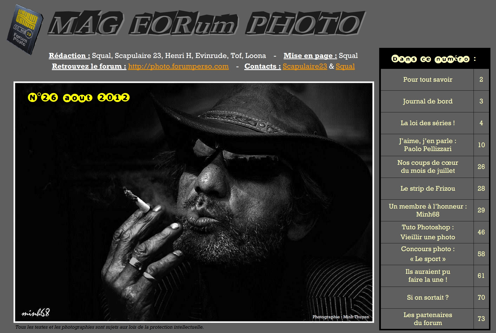 Magazine du forum N°26 Août 2012