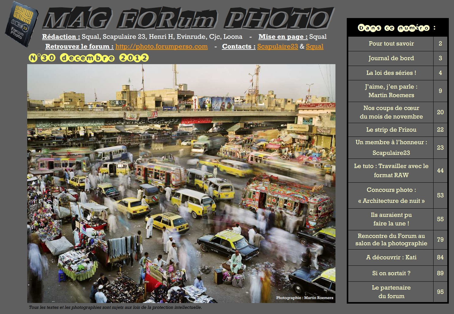 Magazine du forum N°30 décembre 2012