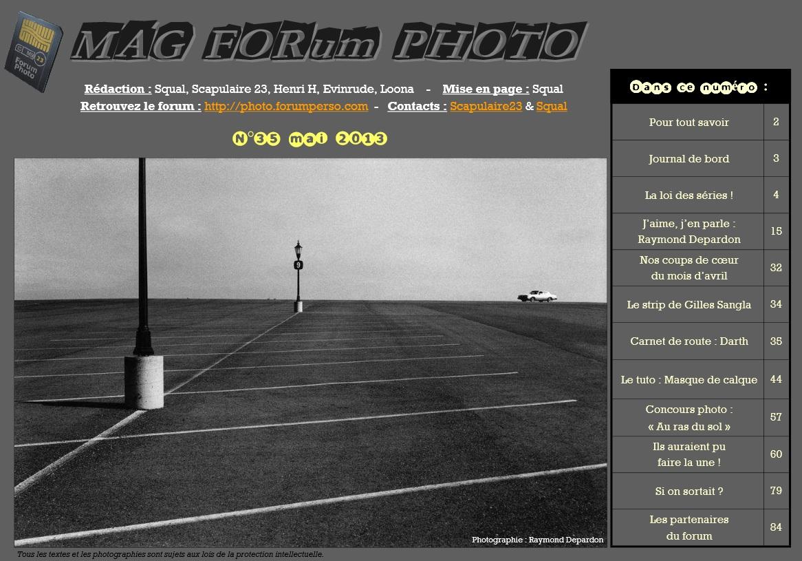 Magazine du forum N°35 mai 2013