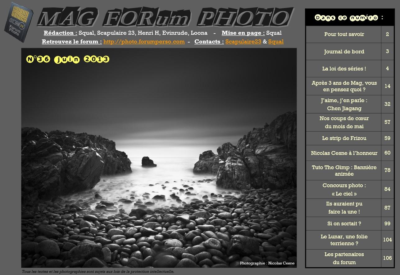 Magazine du forum N°36 juin 2013