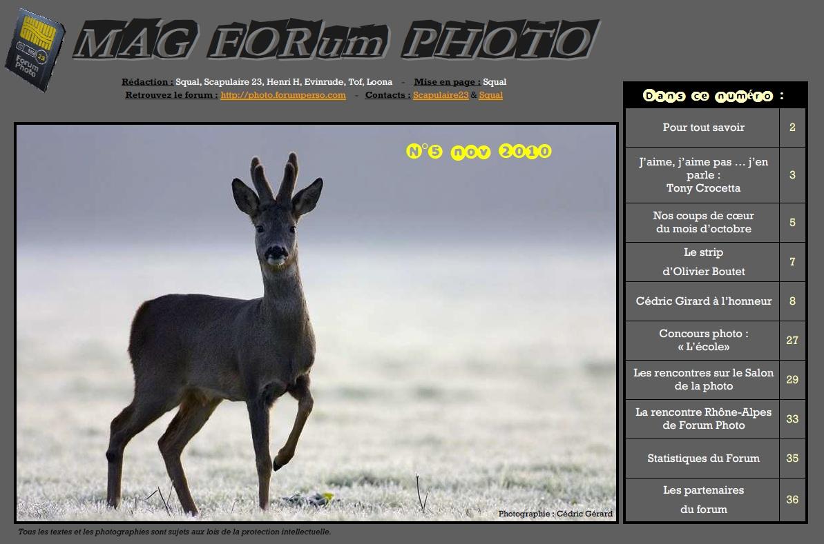 Magazine du forum N°5 Novembre 2010