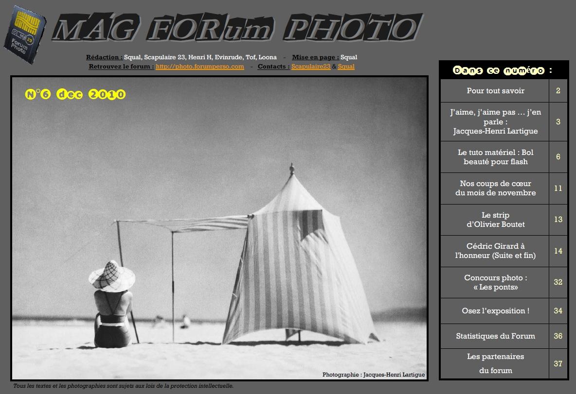 Magazine du forum N°6 Décembre 2010
