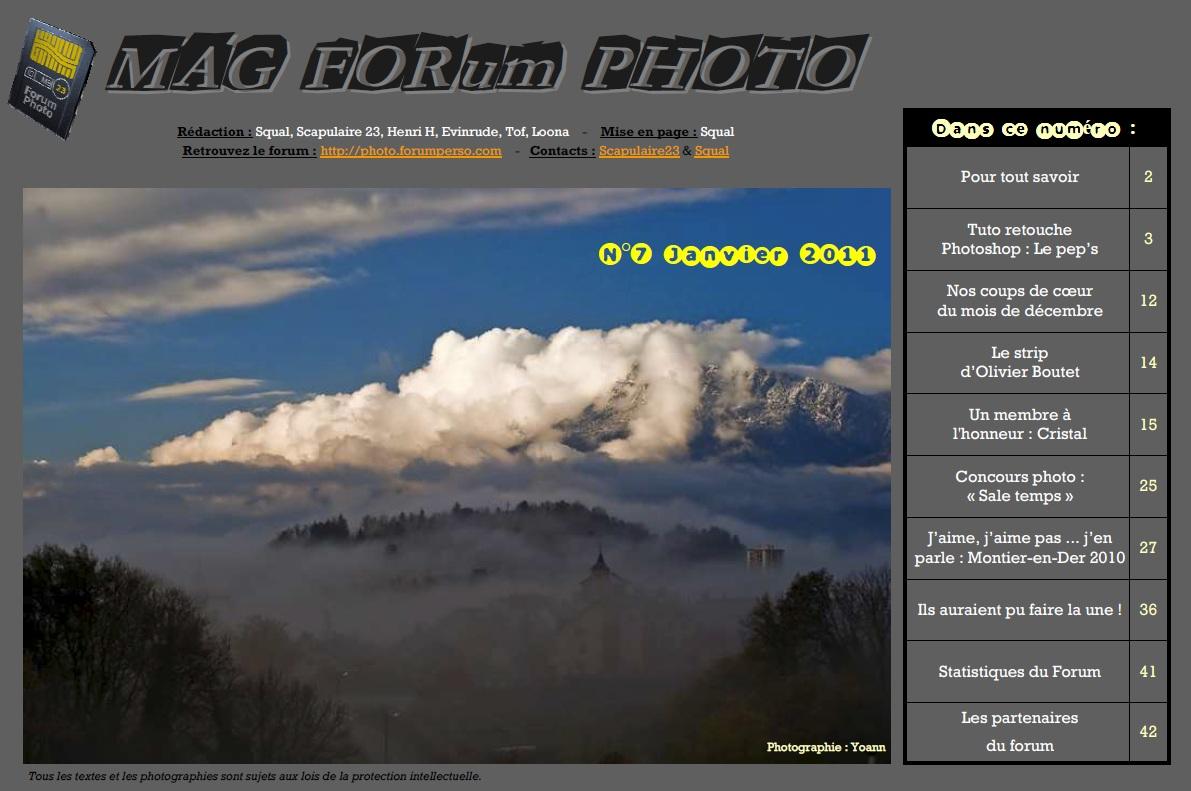 Magazine du forum N°7 Janvier 2011