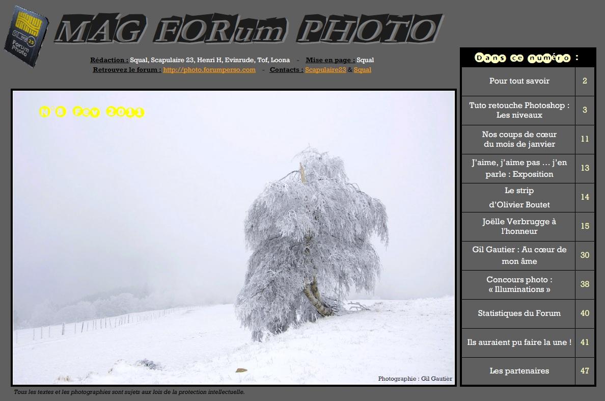 Magazine du forum N°8 Février 2011